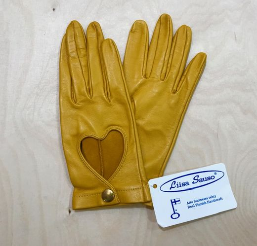 Driver gloves, yellow