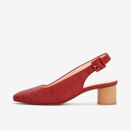 LONA SLINGBACK poppy red